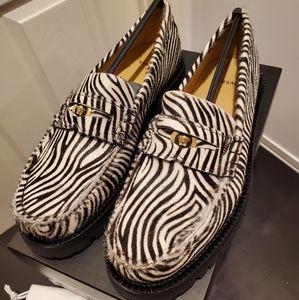 Zerba Print Loafers with Golden MEDUSA Logo